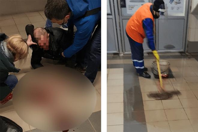Чоловік розбив голову в метро – персонал допоміг лише тим, що витер калюжу крові (ФОТО)