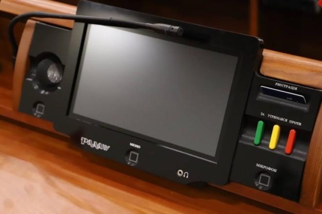 Завтра депутати не зможуть кнопкодавити в Раді – запрацюють сенсорна кнопка та камери