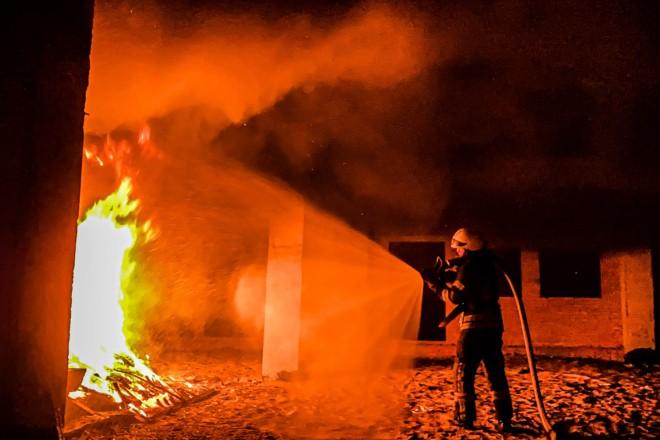 """""""Муромець"""" рятували від пожежі: у парку хтось підпалив 2-поверхову """"заброшку"""""""