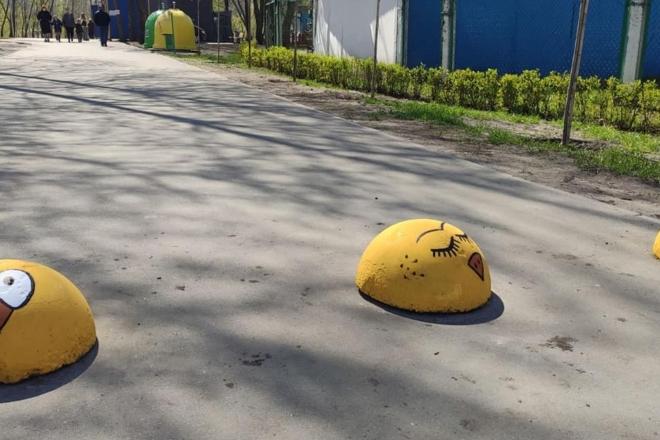 В'їзд до одного з парків Дарниці загородили жовті курчата (ФОТО)