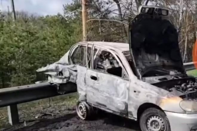 Жахливе вогняне ДТП на Варшавській трасі: водій згорів заживо (ВІДЕО)