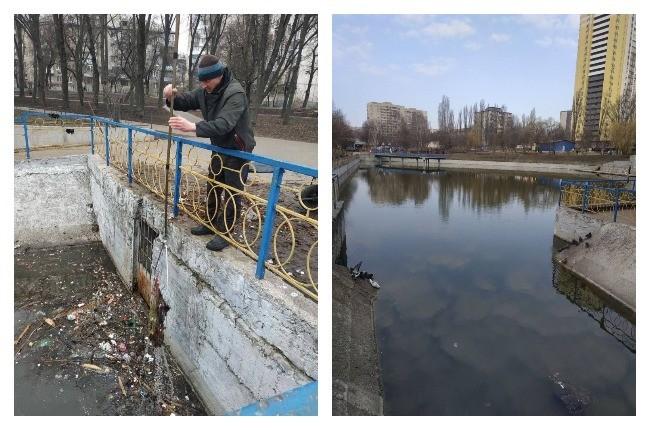 """Краса! У парку """"Орлятко"""" очистили озеро від сміття (ФОТО)"""