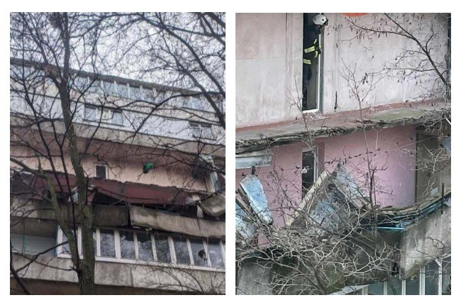 На вулиці Половецькій рухнув величезний балкон багатоповерхівки (ФОТО)