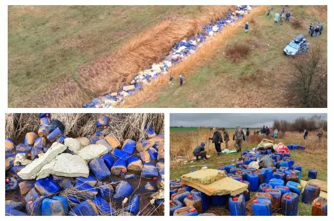 На Київщині в річку викинули кілька тисяч каністр – шокуючі фото