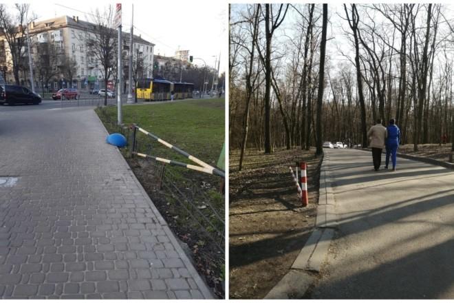 Цих людей ніщо не зупинить. Вандали позносили шлагбауми при вході у парки Голосієва