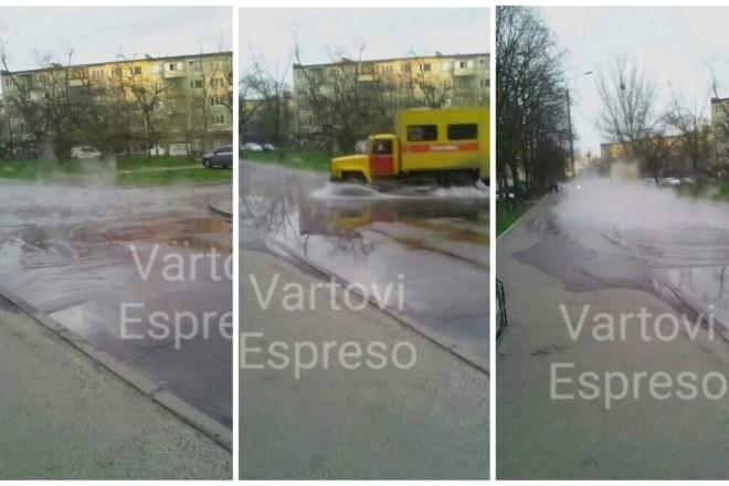 Знову гейзери. У Києві прорвало трубу з окропом