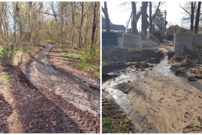 Голосіївський парк залило каналізаційними нечистотами (ФОТО)