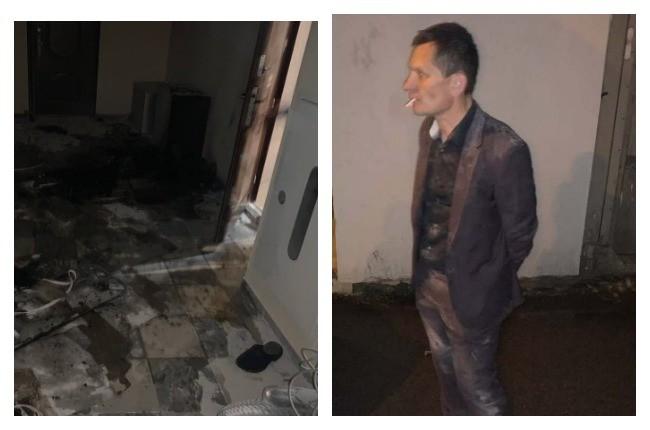 Ексдепутат спалив авто та підпалив квартиру з дружиною та дітьми (ФОТО)