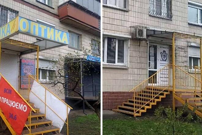 Мінус 150 вивісок. На Солом'янці добу зносили неоковирну рекламу (ФОТО)
