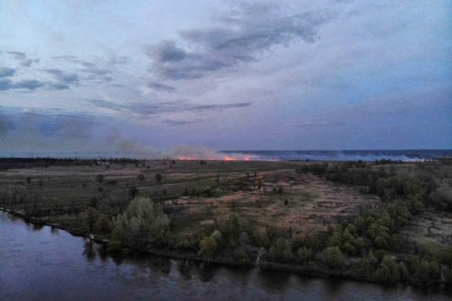 На Київщині горів найбільший в Україні річковий острів (ФОТО)