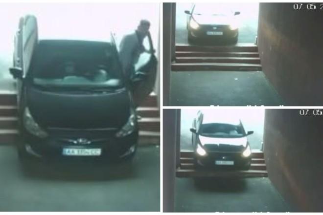 """""""Лосі""""-каскадери? У Бортничах авто застрягло на сходах підземного переходу (ВІДЕО)"""