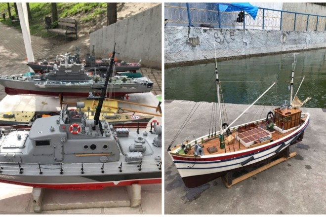 """Мініатюрні копії реальних кораблів плавали озером у парку """"Орлятко"""". Юні судномоделісти зібралися на турнір (ФОТО)"""