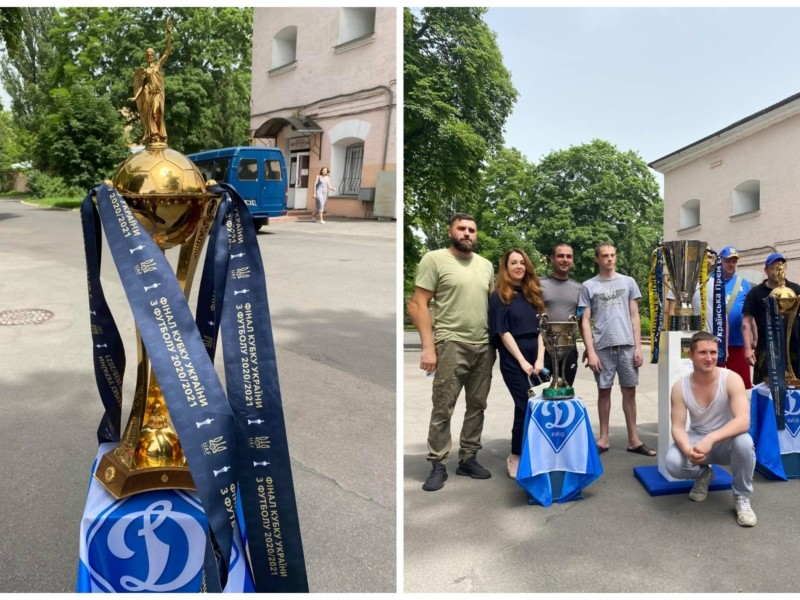 Пораненим не вистачало слів: «Динамо» привіз  трофеї до військового шпиталю (ФОТО)