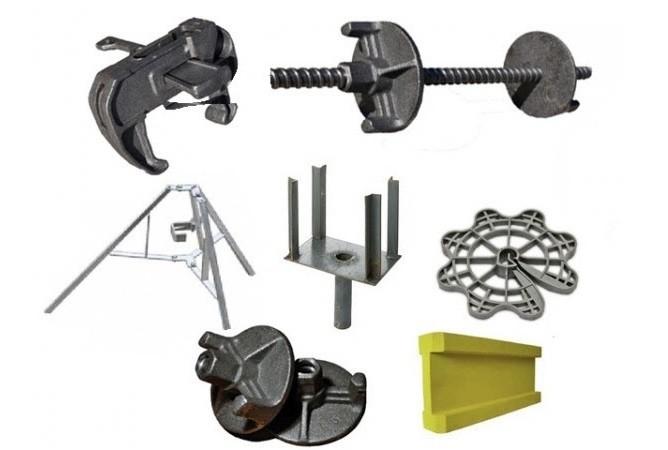 Комплектуючі для опалубки: складові елементи і їх призначення