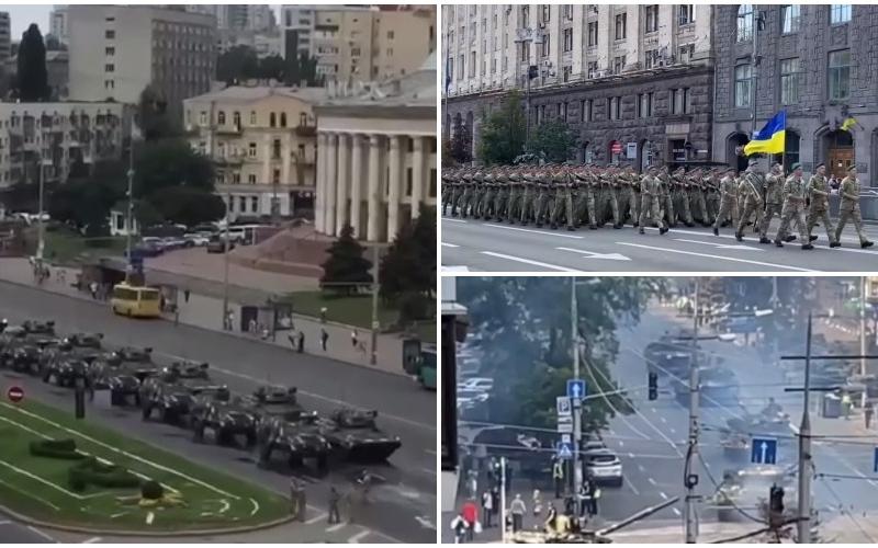 Танки та багато військових: як в столиці проходить репетиція параду (ВІДЕО)