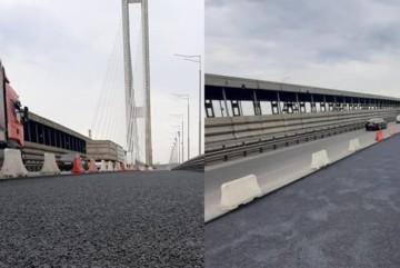 Ремонт на Південному мосту добігає кінця: дорожники ось-ось почнуть асфальтувати покриття