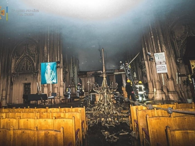 Цифра дня. Скільки грошей зібрали за день на відновлення Миколаївського костелу після пожежі