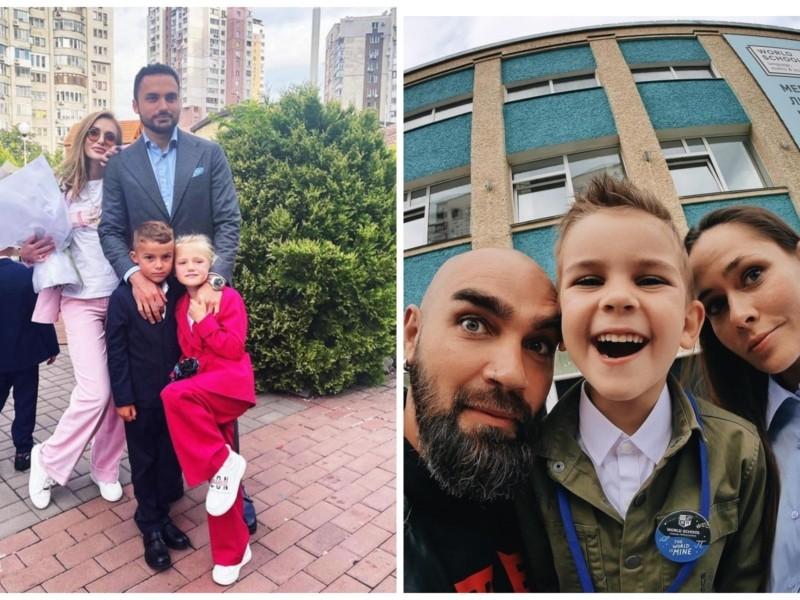 Зіркові тата й мами відправили дітей в школу: фото столичних селебріті