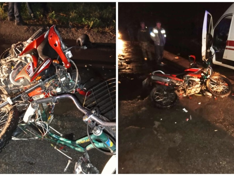 """Юний """"байкер"""". Підліток на мотоциклі збив велосипедистку, жінку не змогли врятувати"""