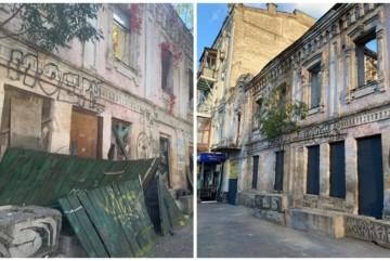 5 днів і автовишка! Киянин самотужки прибрав фасад історичної будівлі на Подолі (ФОТО)