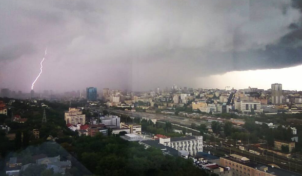 В Киеве днем ожидается гроза
