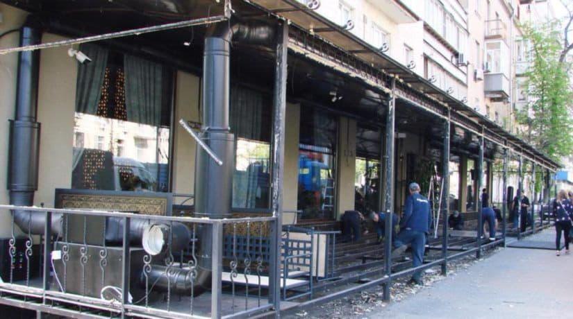 В центре города демонтирована площадка ресторана «Долма»