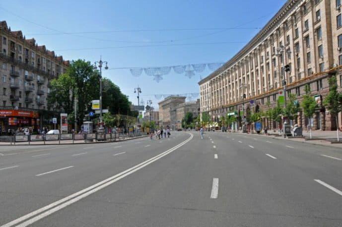 9 июня будет запрещено движение транспорта по Крещатику