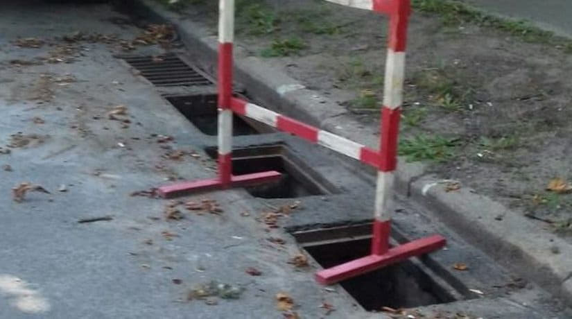 В Соломенском районе вандалы за одну ночь украли 19 решеток водостоков