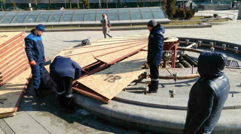 В городе началась подготовка фонтанов к открытию сезона