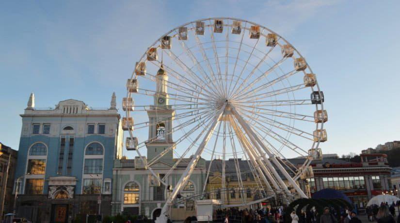 Работа колеса обозрения на Контрактовой площади продлена до 1 июня